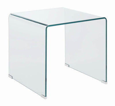 Contemporary Clear End Table Model #  18705327