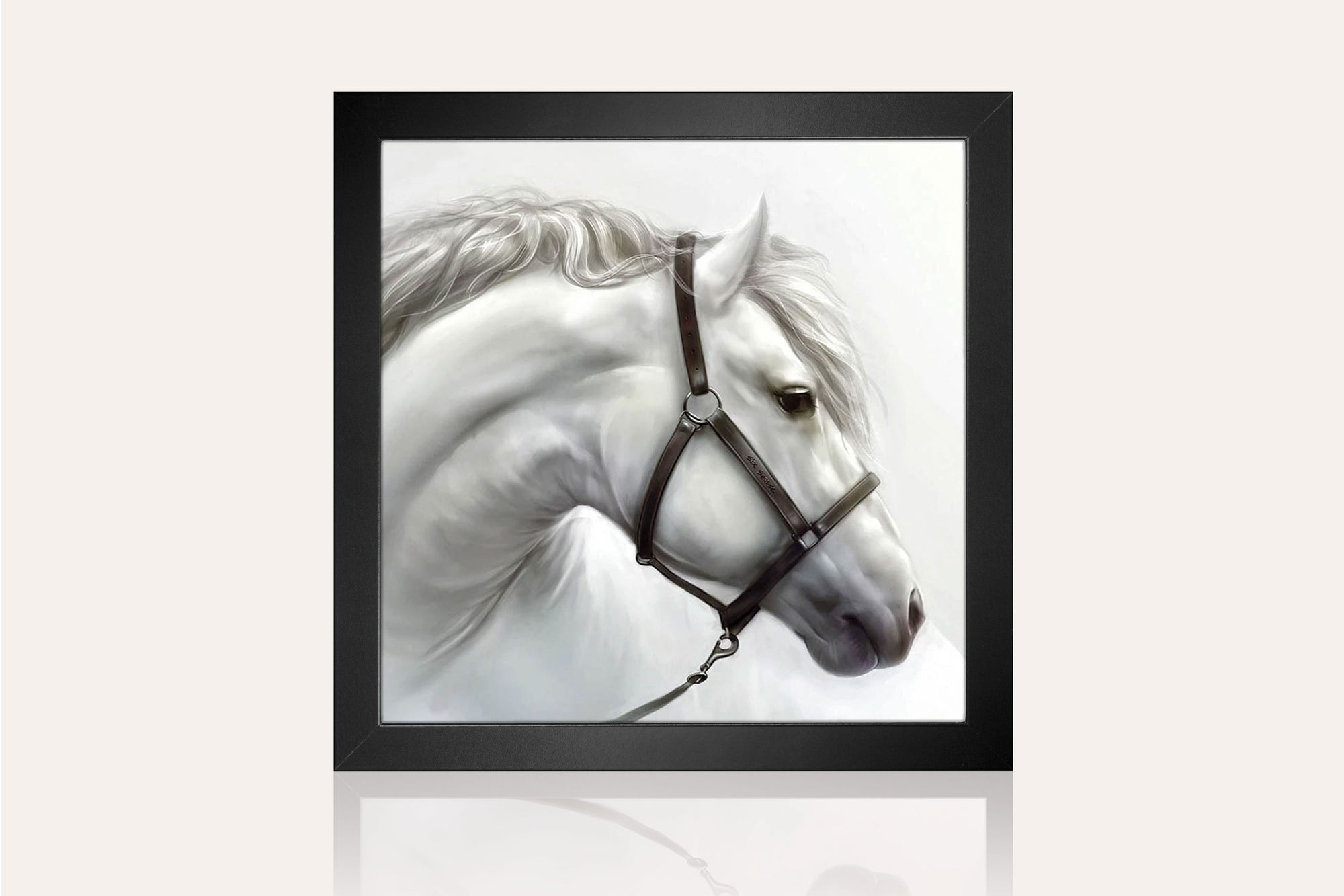 The White Horse Acrylic Wall Art by Venini