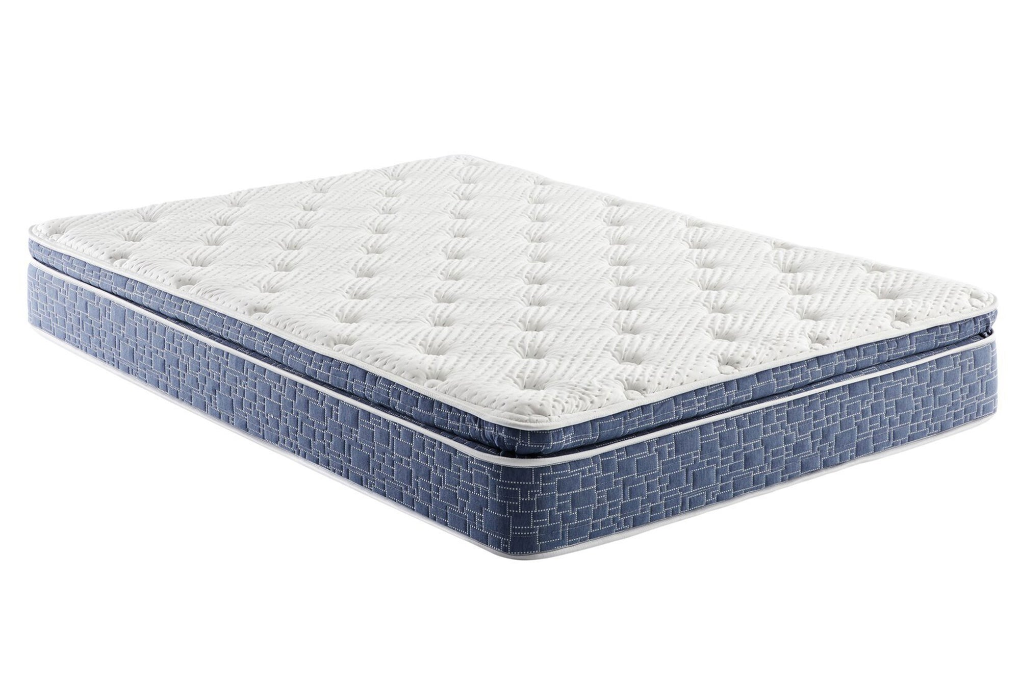 VENINI 10-inch Plush Pillow Top Support Foam and Spring Mattress
