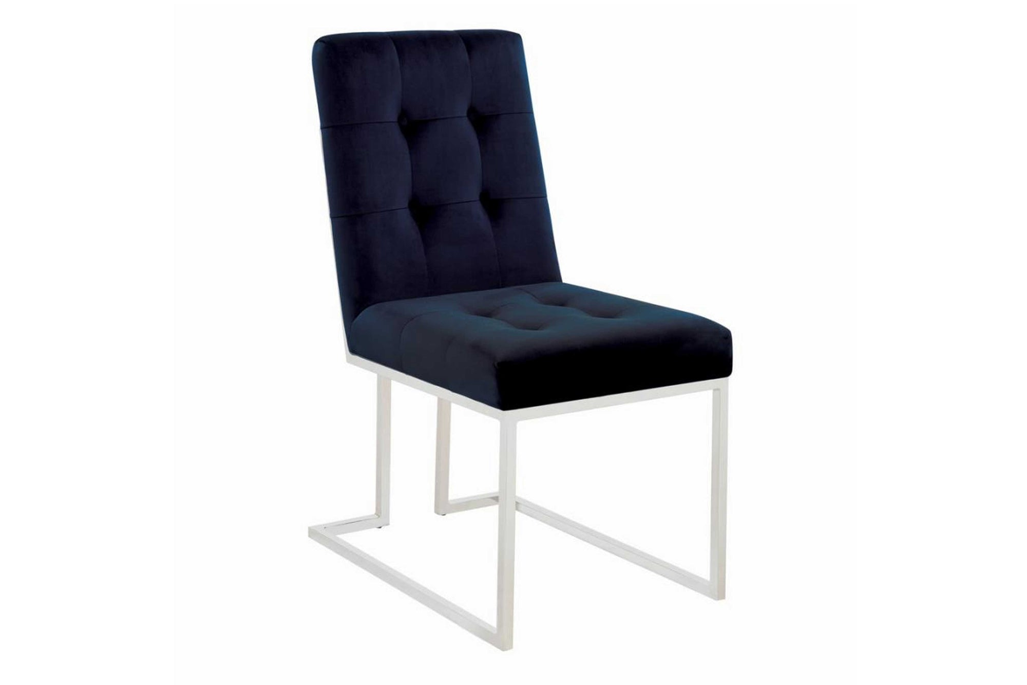 Dining Chairs Ink Blue And Chrome #18192494