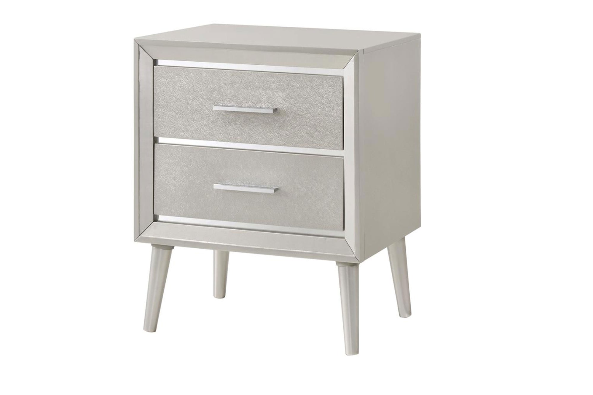 Nightstand Metallic Sterling Model #18222702