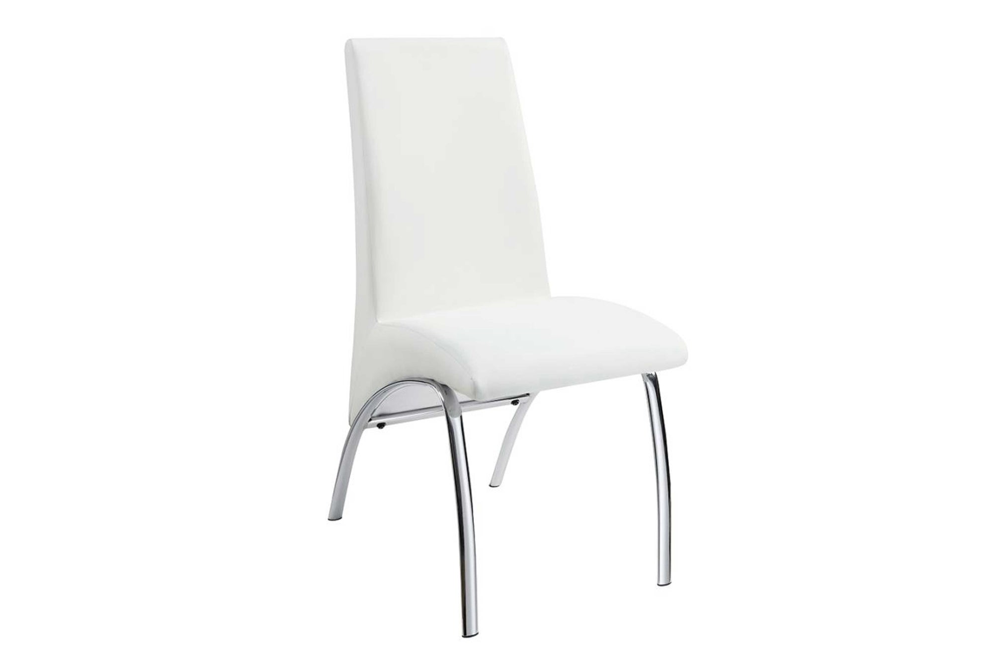 Dining Chairs White and Chrome #18121572