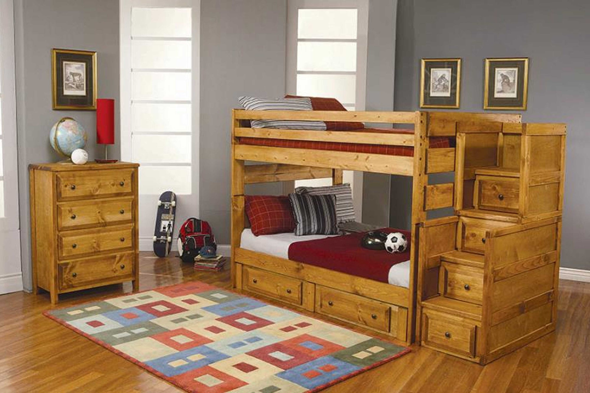 Liam Twin Bunk Bed Amber Wash #18460243