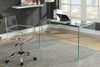 Contemporary Clear Glass Writing Desk Model # 18801581