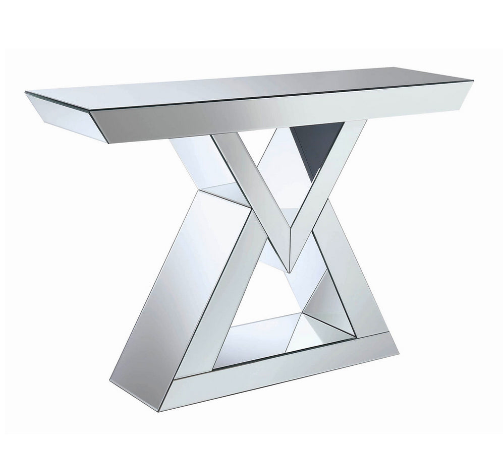 Contemporary Mirrored Console Table Model # 930009