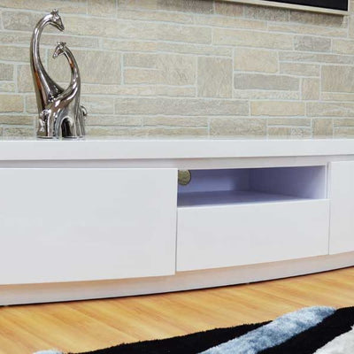 TV STAND WITH LED LIGHT MODEL # 18FA-1009