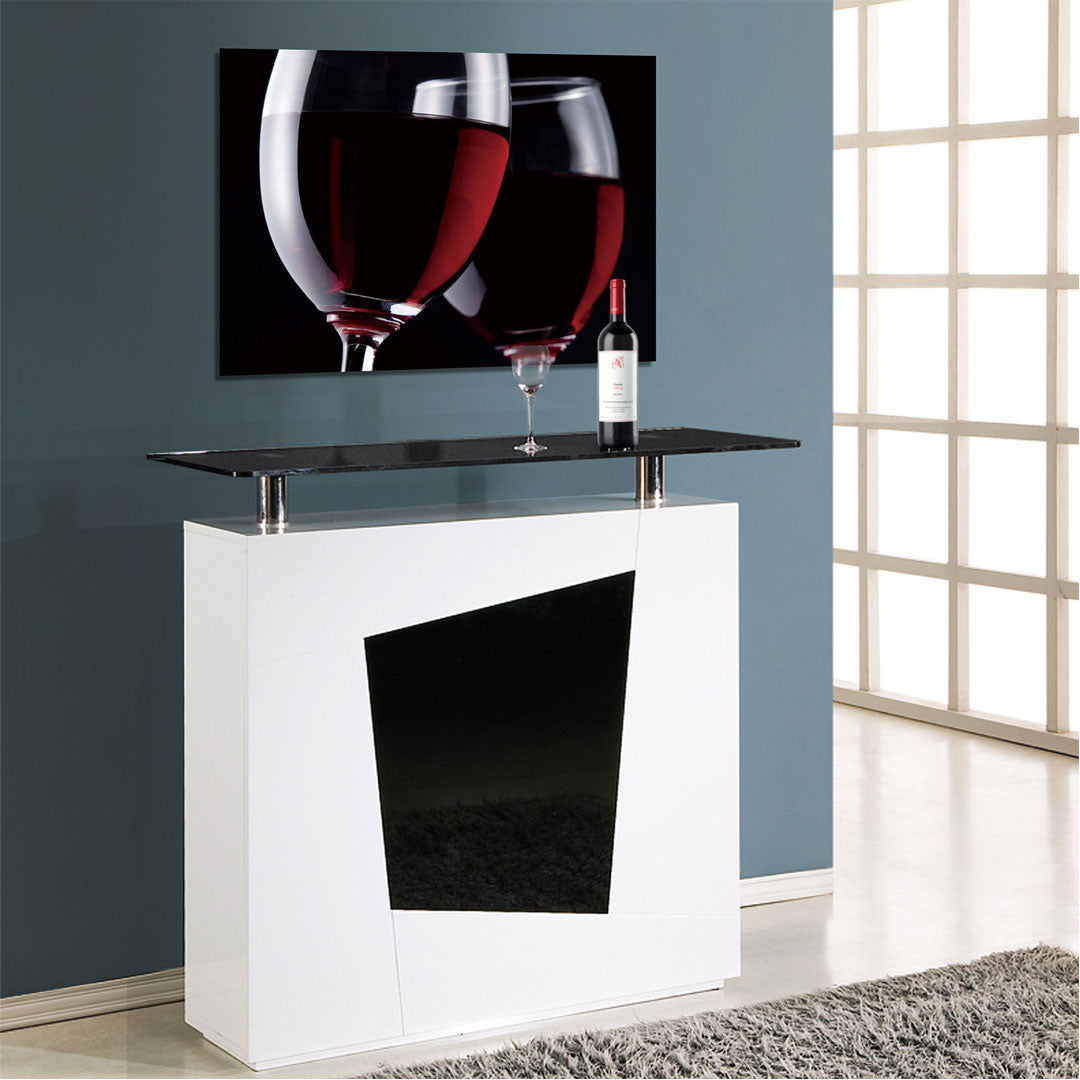 Wine Tempered Glass Art
