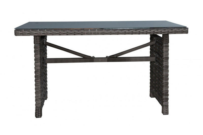 Graphite Rectangular High Coffee Table w/grey tempered glass PJO-1601-GRY-RC