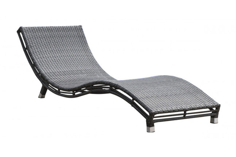 Graphite Curved Chaise Lounge PJO-1601-GRY-CC