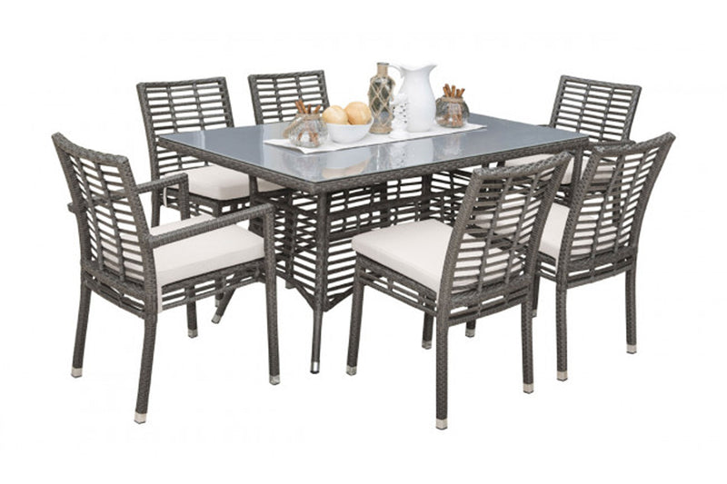 Graphite 7 PC Dining Set PJO-1601-GRY-7AS