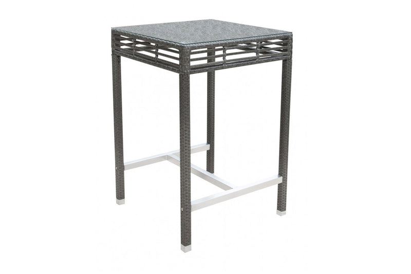 "Graphite 36"" Square Pub Table w/glass PJO-1601-GRY-PT"