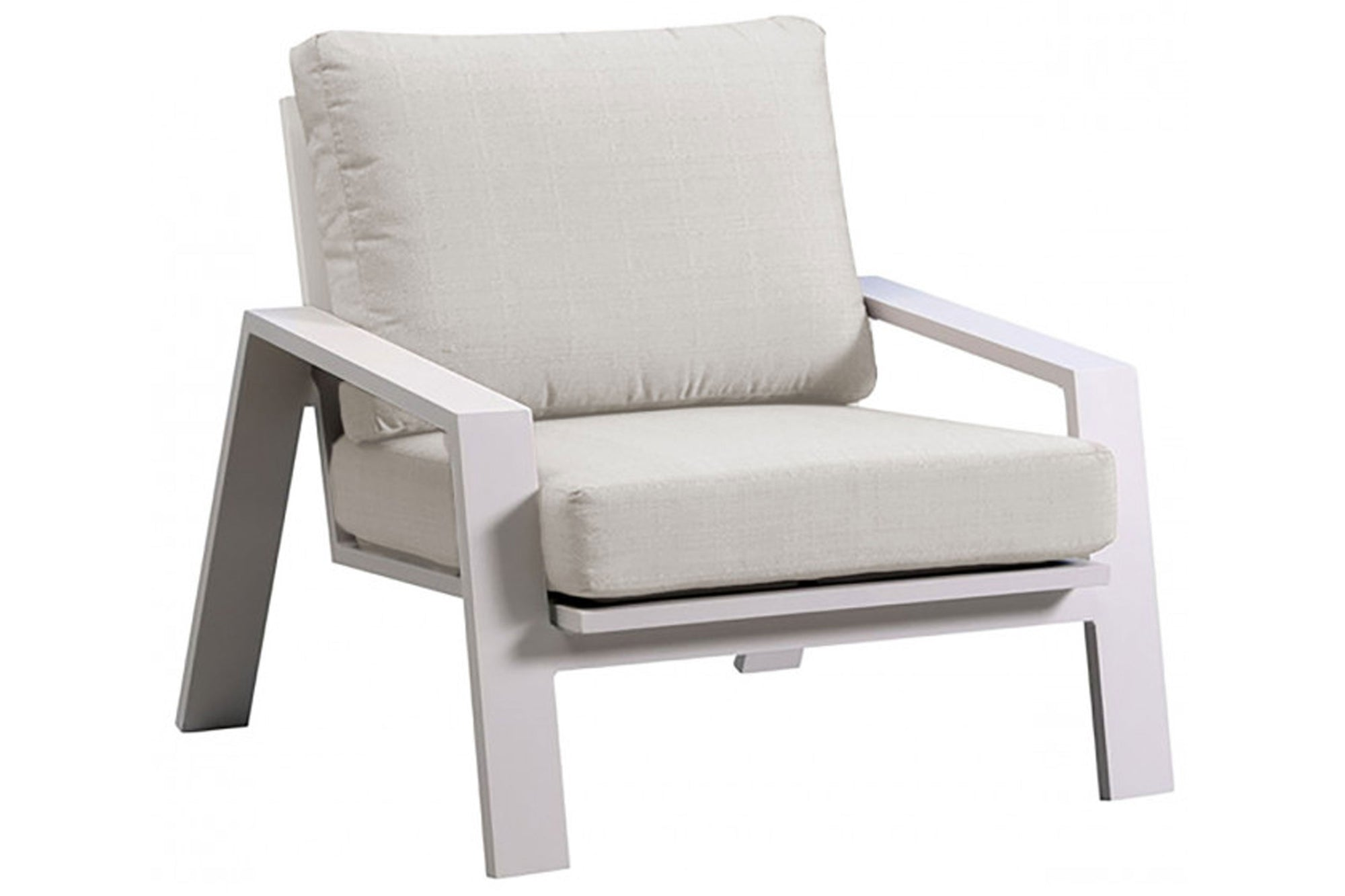 Mykonos Lounge Chair w/off-white cushion