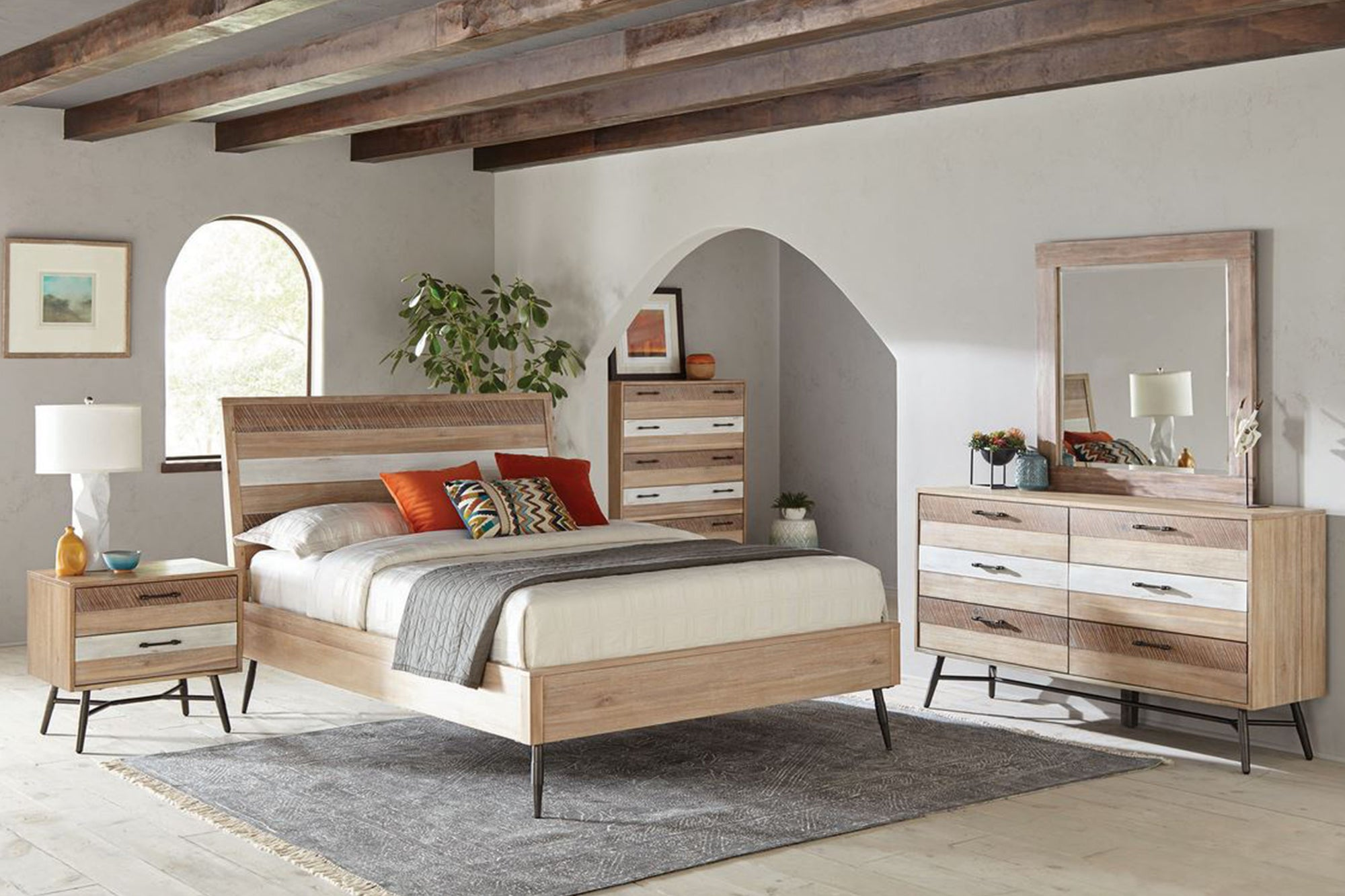 Marlow Queen Platform Bed Rough Sawn Multi Model # 18215761Q