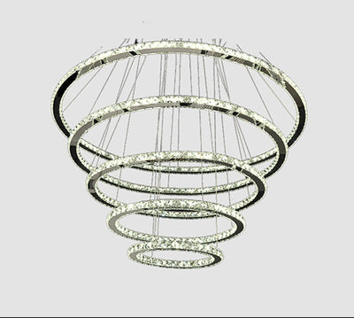 Modern LED lamp, glass and iron, ceiling lamp, with 3 rings adaptables Model # 18MI-3010-3