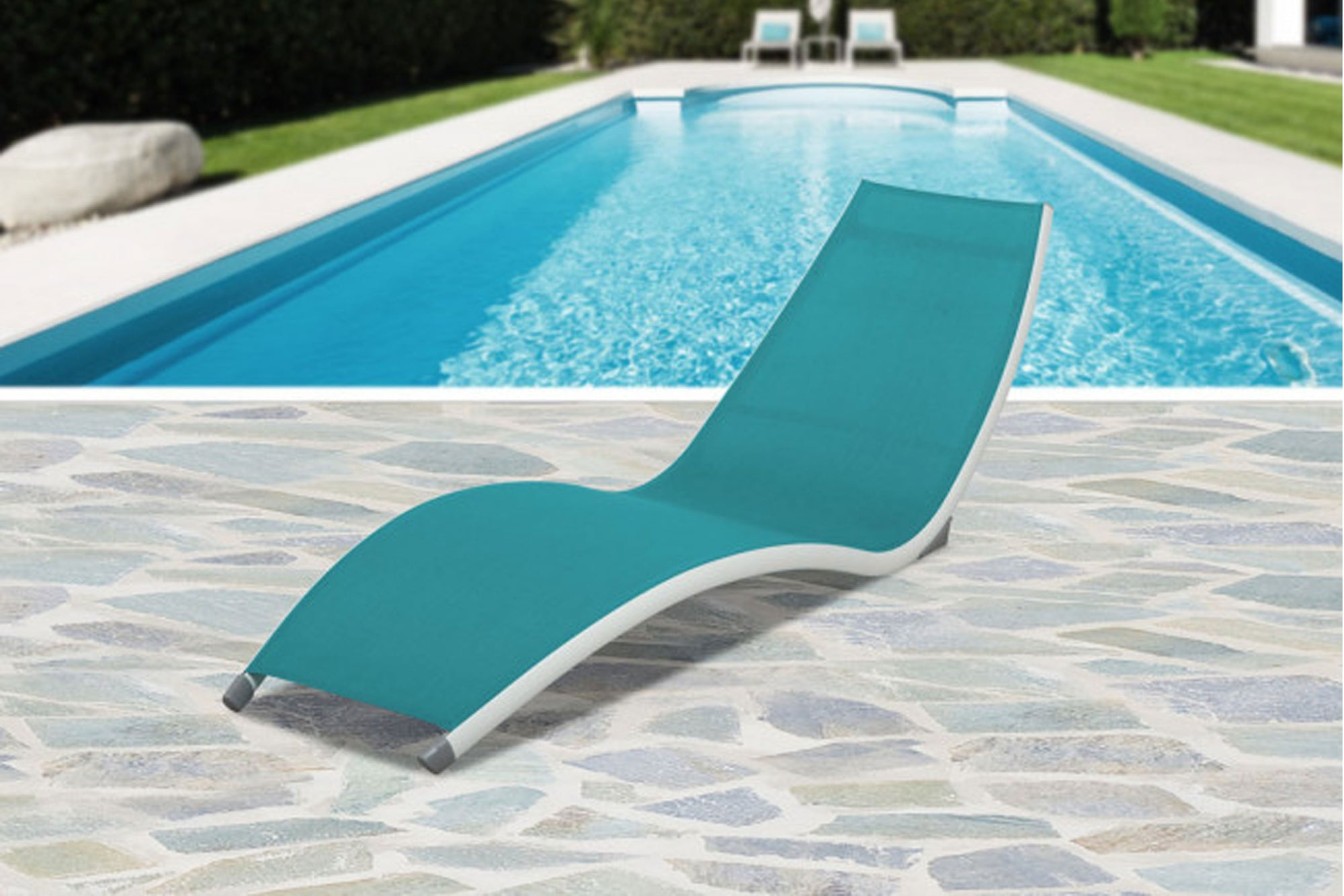 Curve Stackable Sling Chaise Lounge