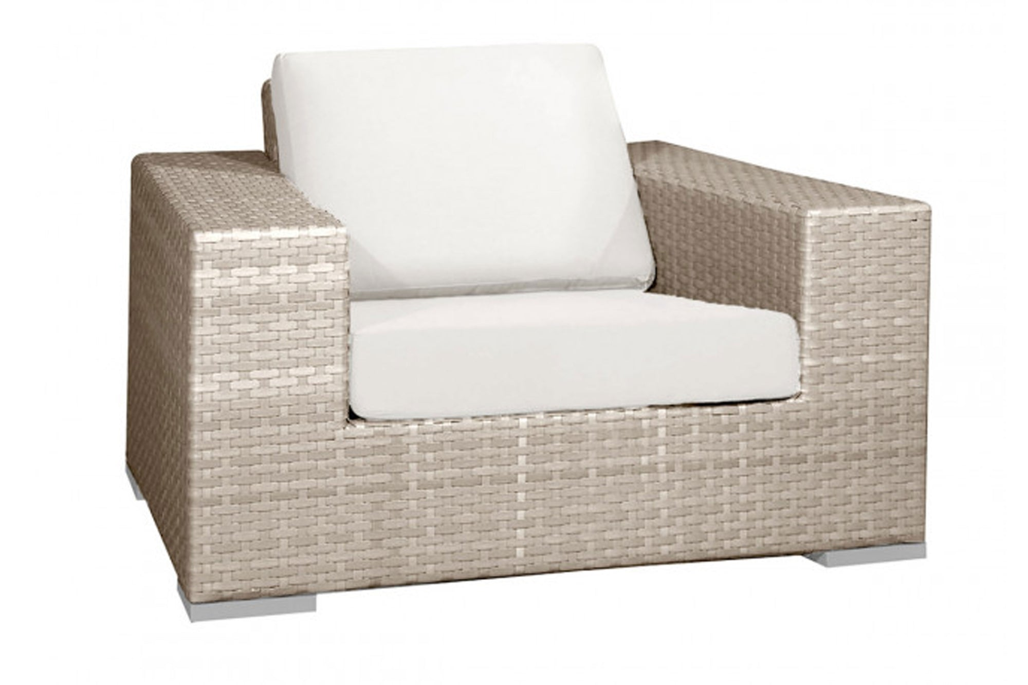 Cubix Lounge Chair w/off-white cushion