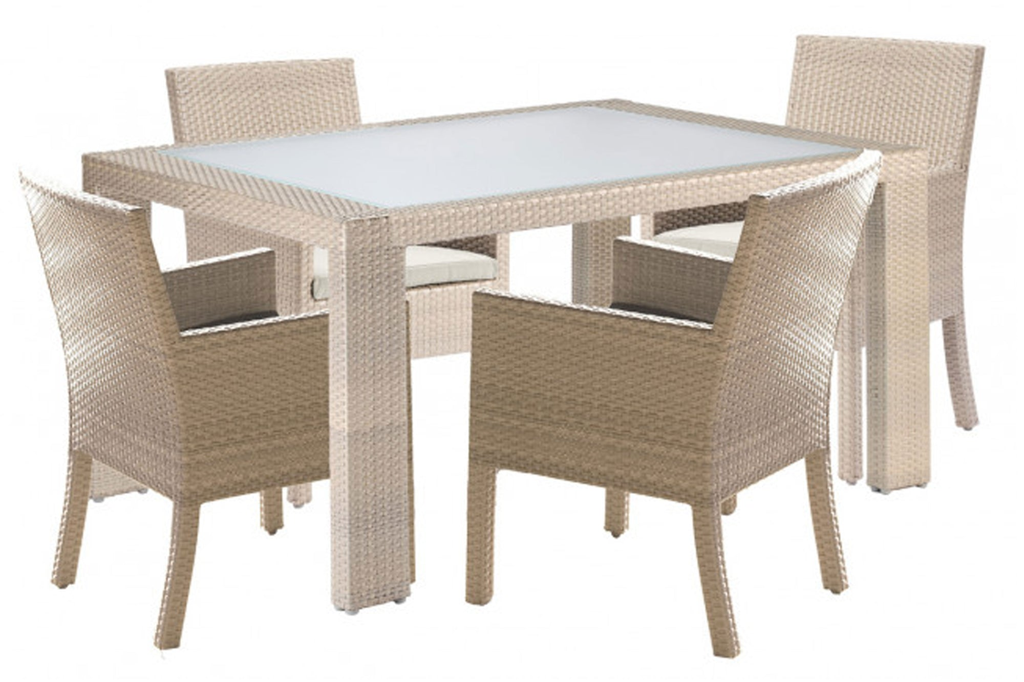 Cubix 5 PC Armchair Dining Set