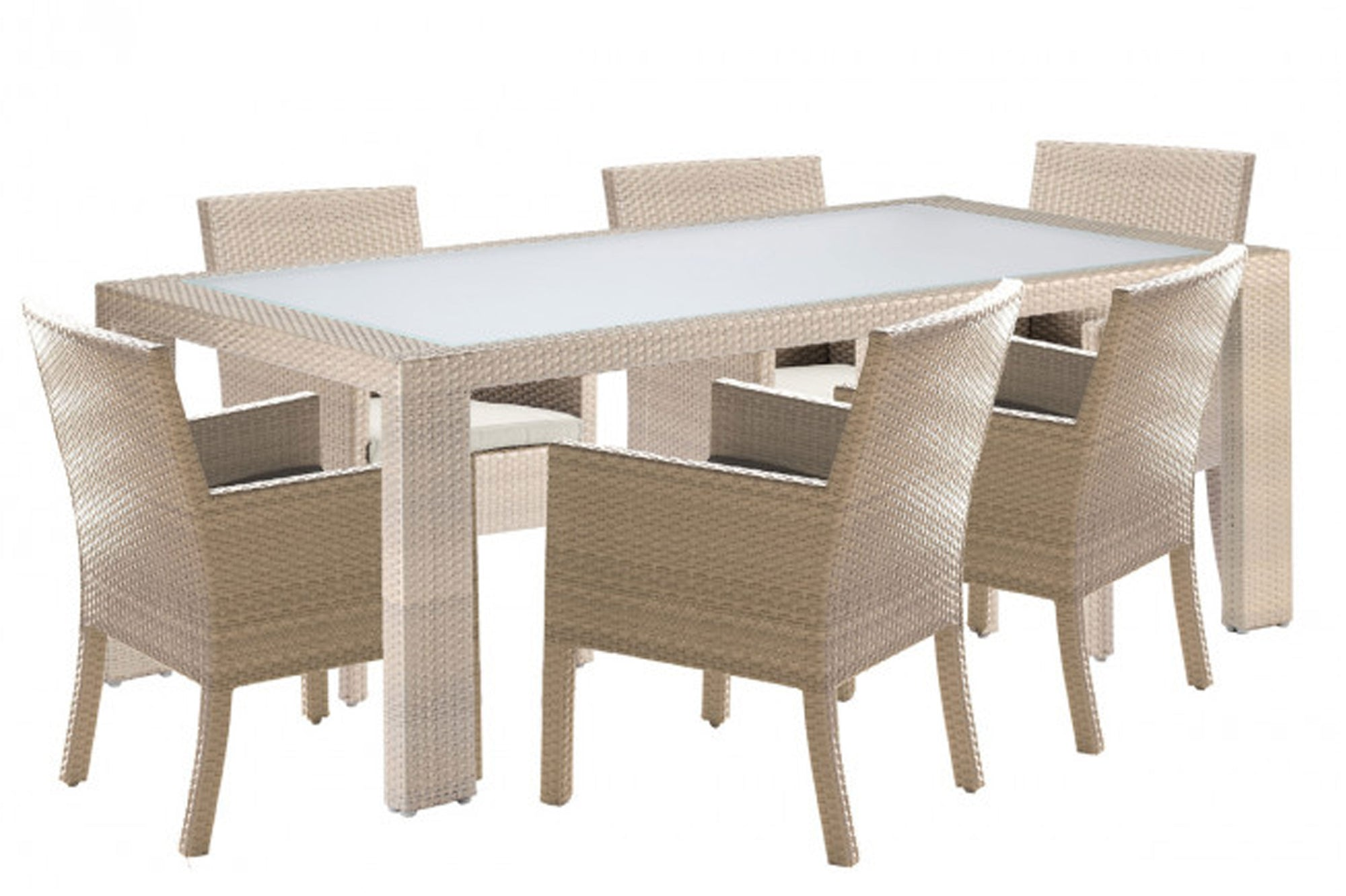 Cubix 7 PC Armchair Dining Set