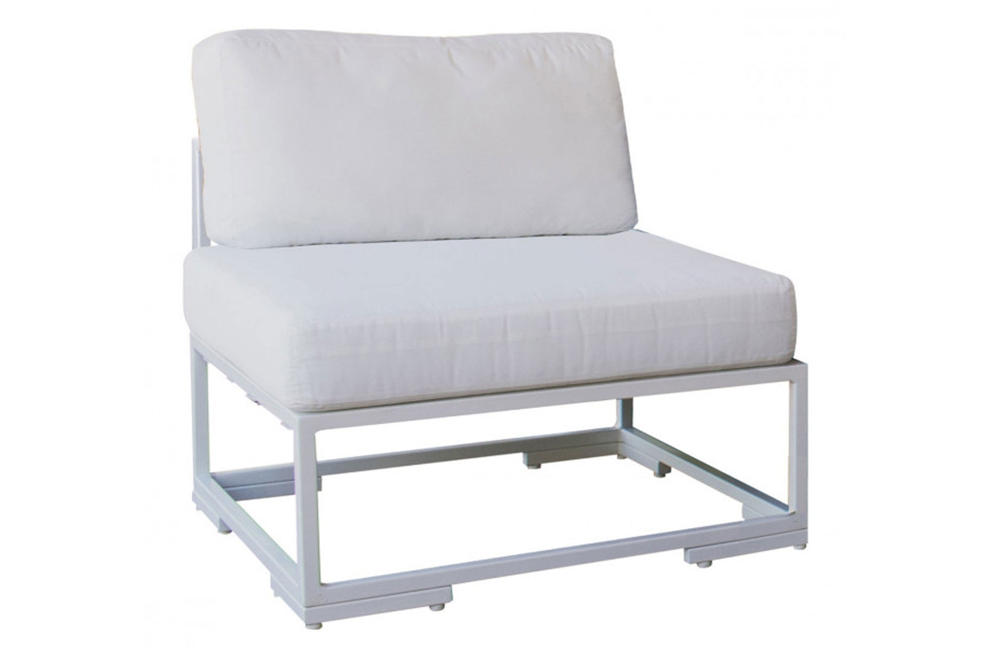 Odyssey Armless Chair w/off-white cushion