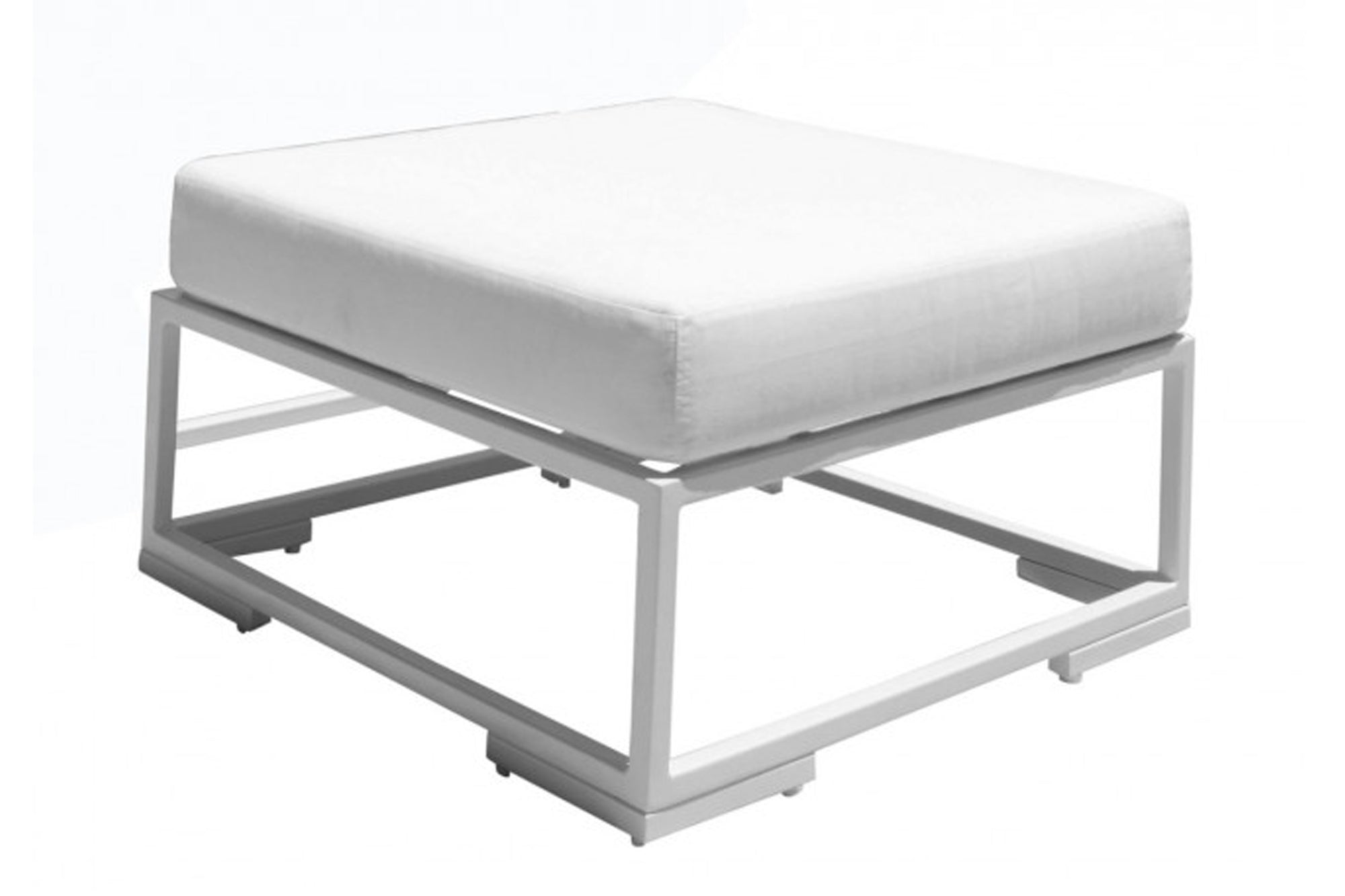 Odyssey Ottoman w/off-white cushion