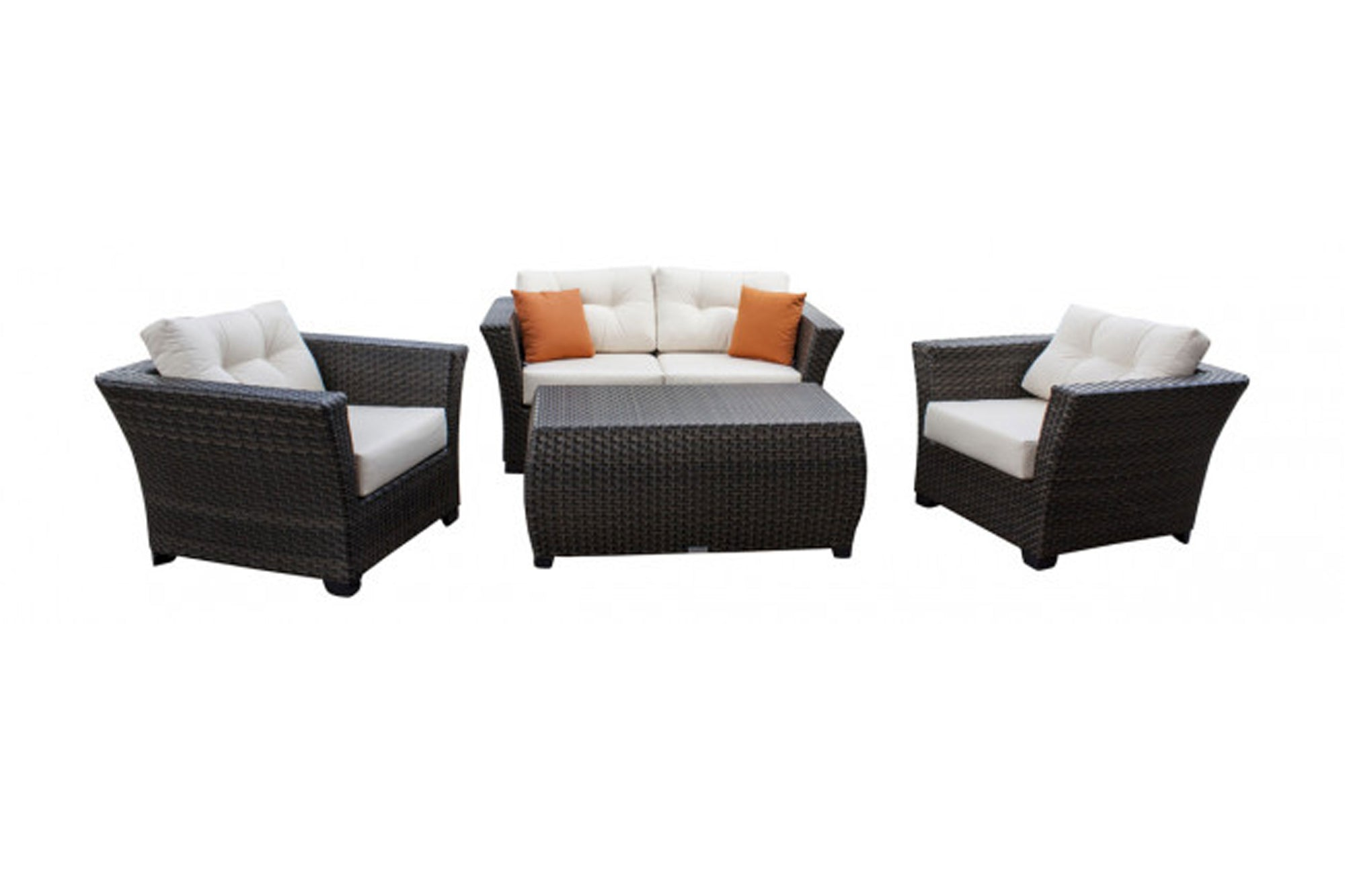 Samoa 4 PC Seating Set w/off-white cushions