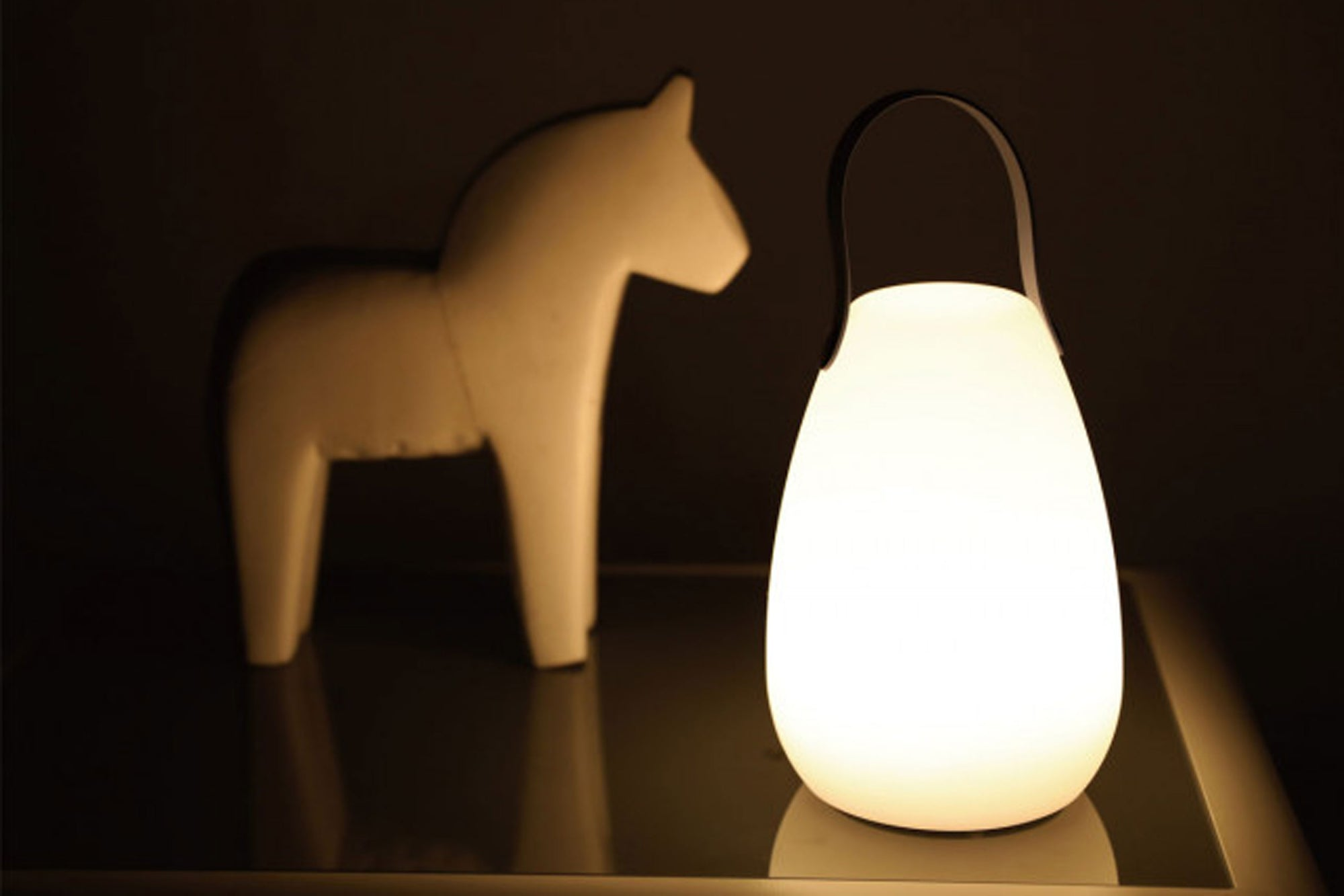 LED Jar Lamp with Silicone Handle
