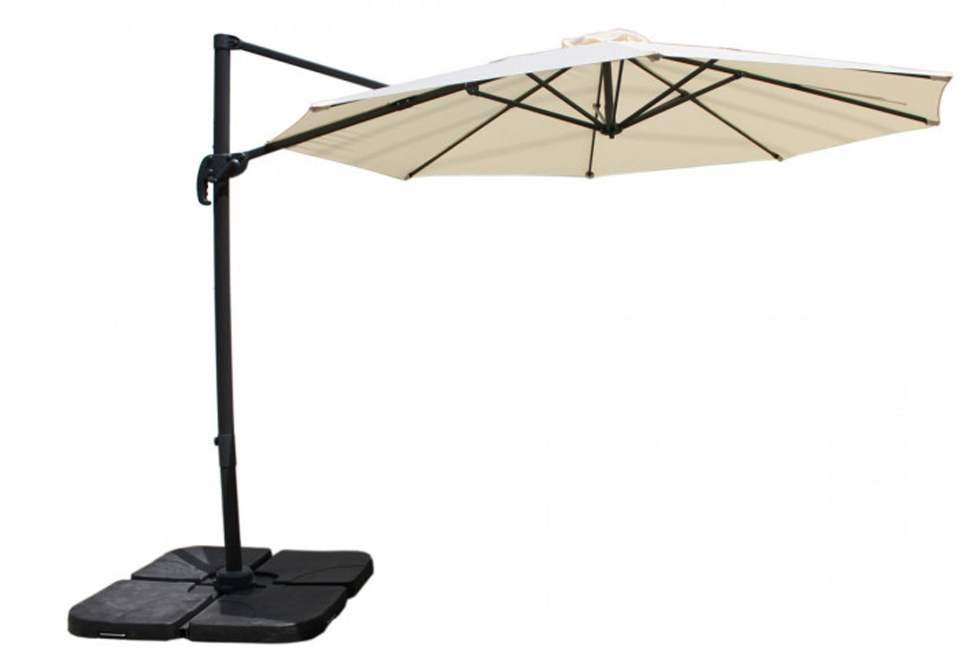 Panama Jack 10 FT Dia. Cantilever Umbrella with 105 lb. base