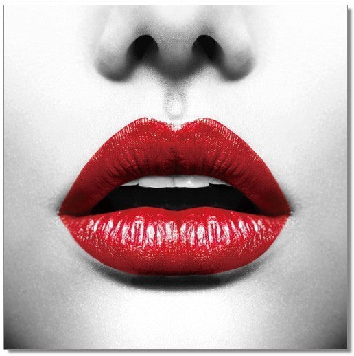 The Red Lips Acrylic Wall Art by Venini