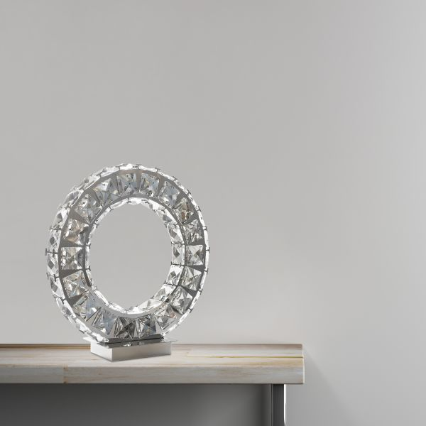 Oval Crystal Extravaganza Table Lamp Led Strip TL-412
