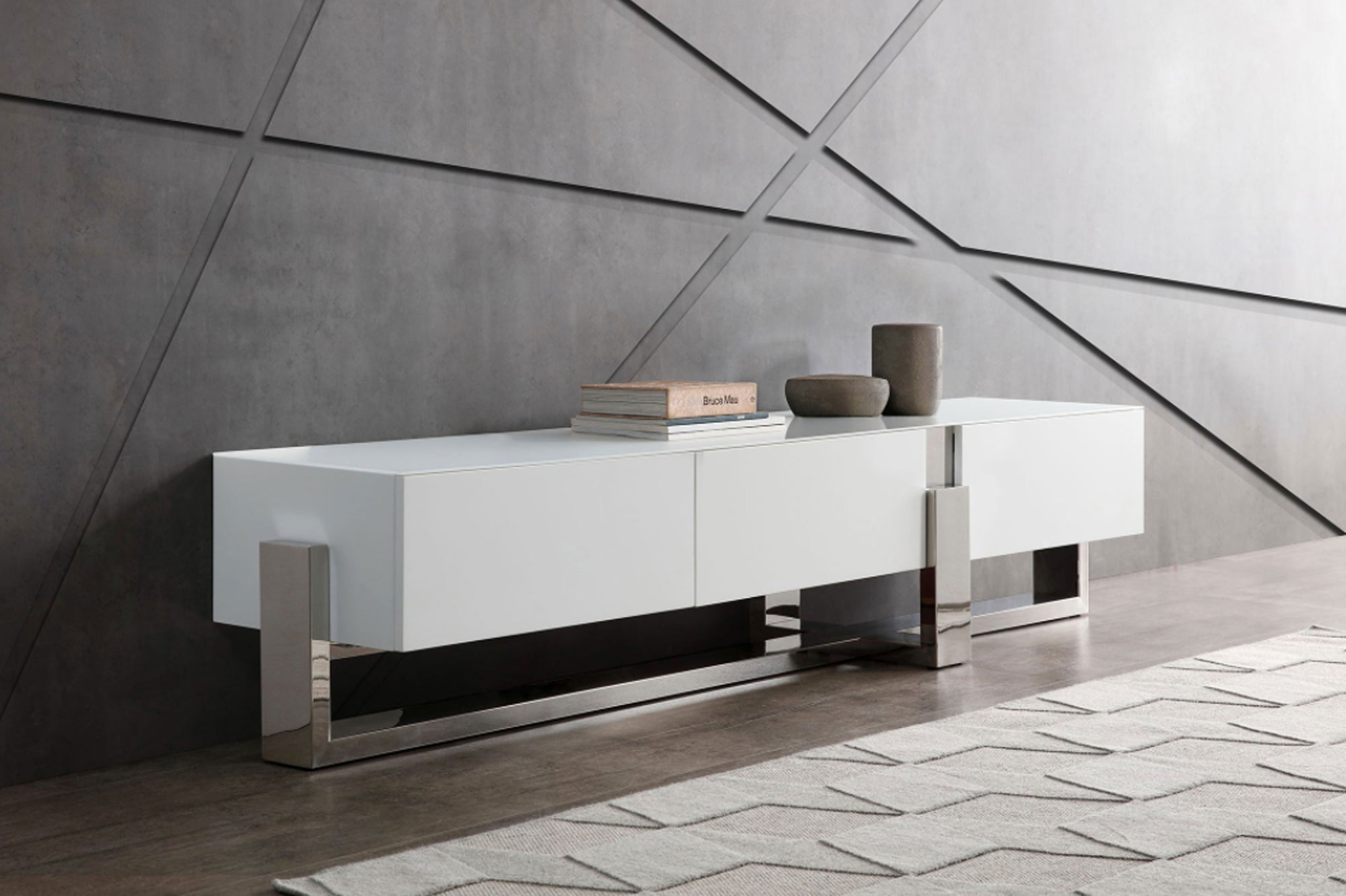 high end modern White TV Unit VE-EC1439