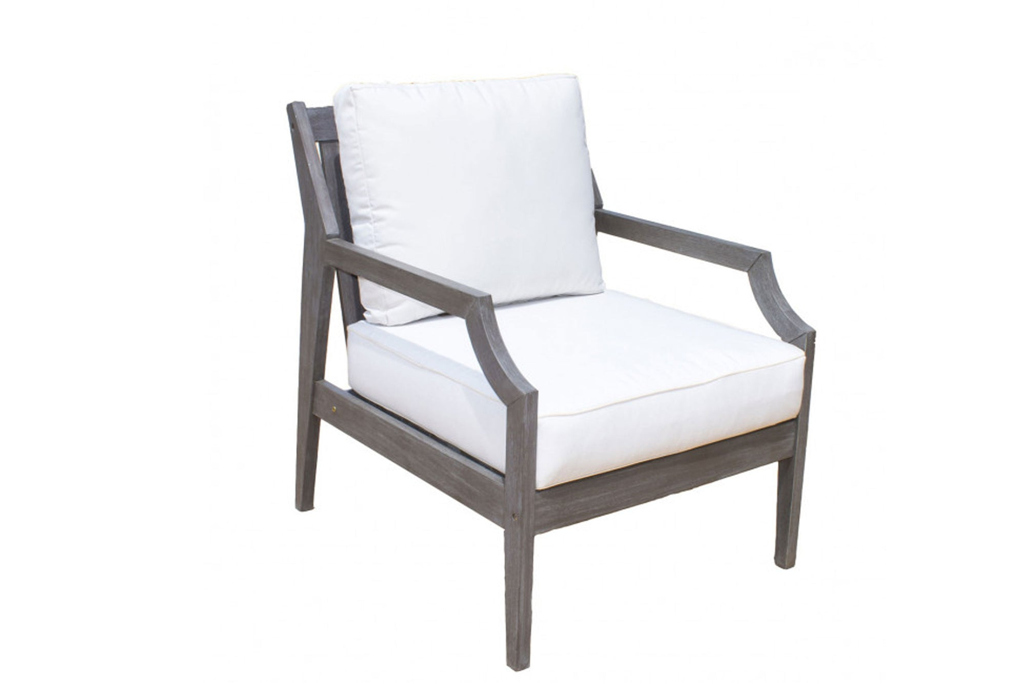 Poolside Lounge Chair w/off-white cushion
