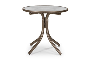 Round Glass Top Dining Height Table