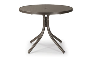 Round Aluminum Slat Top Dining Height Table