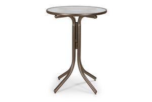 Round Glass Top Bar Height Table