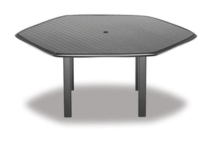 "Hexagonal Aluminum Slat Top 62"" Table"