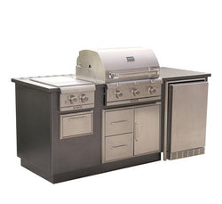 SABER EZ OUTDOOR KITCHEN RSERIES Silver Vein Top/Base