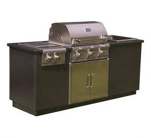 SABER EZ OUTDOOR KITCHEN I SERIES Copper Vein Top/Sandy Shore Base