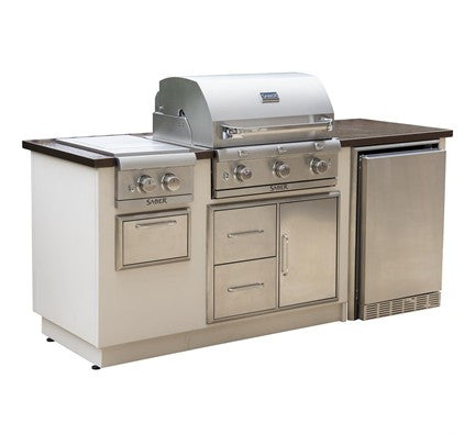 SABER EZ OUTDOOR KITCHEN R SERIES Copper Vein Top/Sandy Shore Base