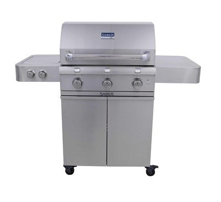SABER  Stainless Steel 3-Burner Gas Grill (LP)