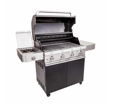 SABER Cast Black 4-Burner Gas Grill (LP)
