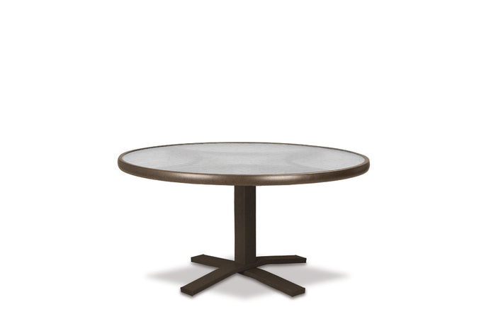Round Glass Top Chat Height Table