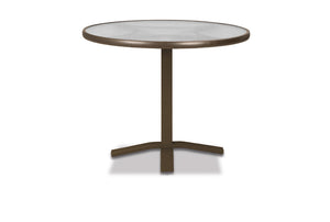 Round Glass Top Balcony Height Table