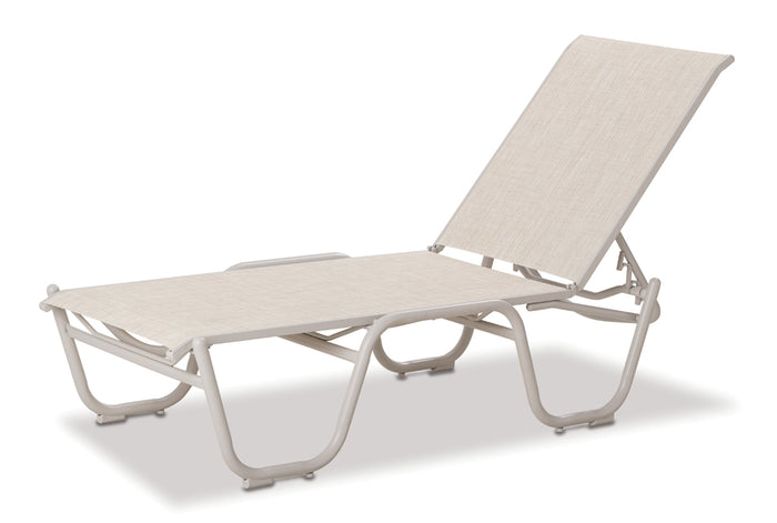 "Gardenella Sling 16"" Four-Position Lay-flat Stacking Armless Chaise"