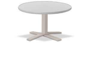 Round Value Hammered MGP Top Chat Height Table