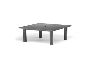 "Square Aluminum Slat Top 42"" Coffee Height Table"