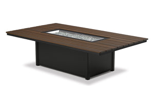 "48"" x 84"" Rectangular Rustic Top Fire Table"