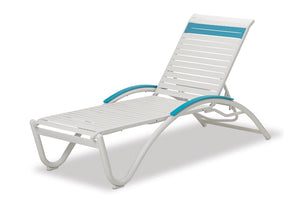 Helios Contract Strap Four-Position Lay-flat Stacking Chaise