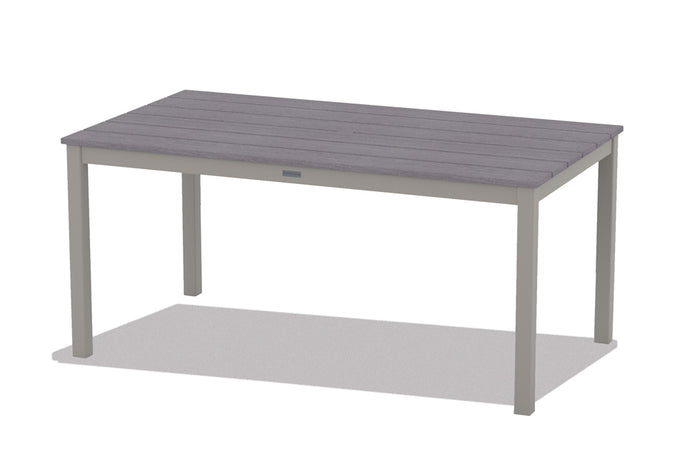 "Rectangle Rustic Polymer Top 36"" x 64"" Parsons Table"