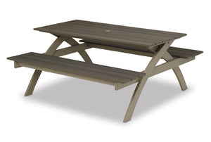 Rustic Polymer Top Picnic Table