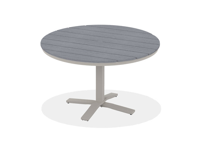 Round Rustic Polymer Top Balcony Height Table